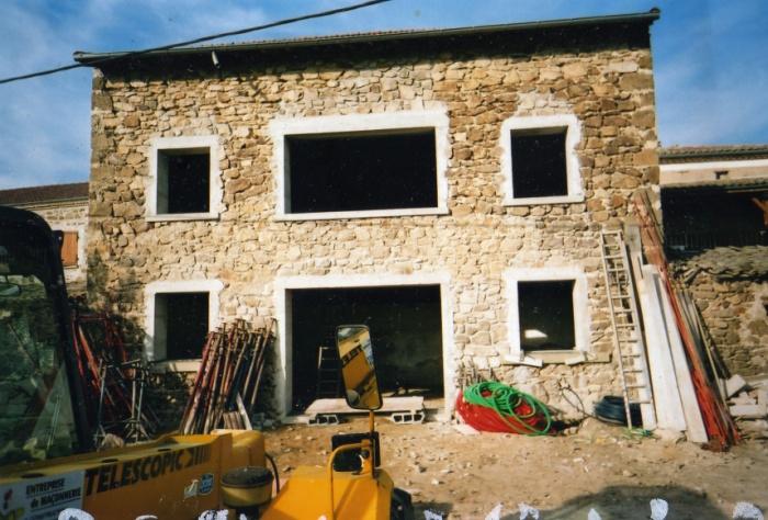 Rénovation et extension d'un ancien corps de ferme : Réalisation