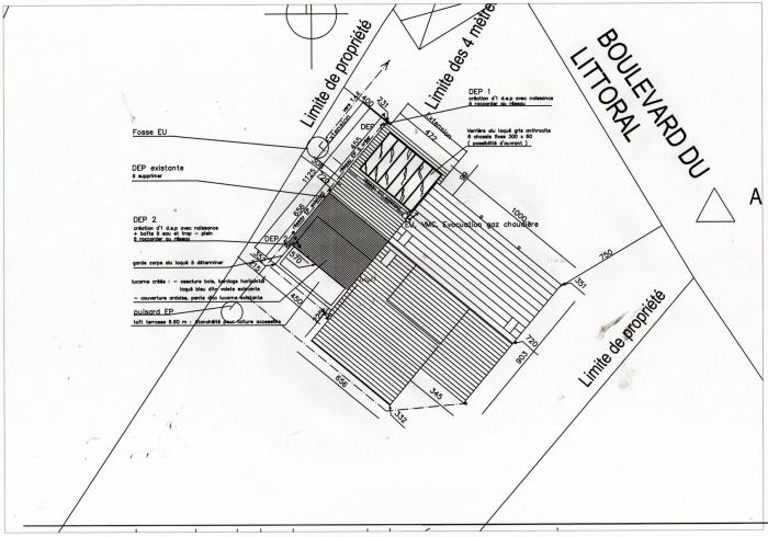 Extension et Surélévation : Plan masse