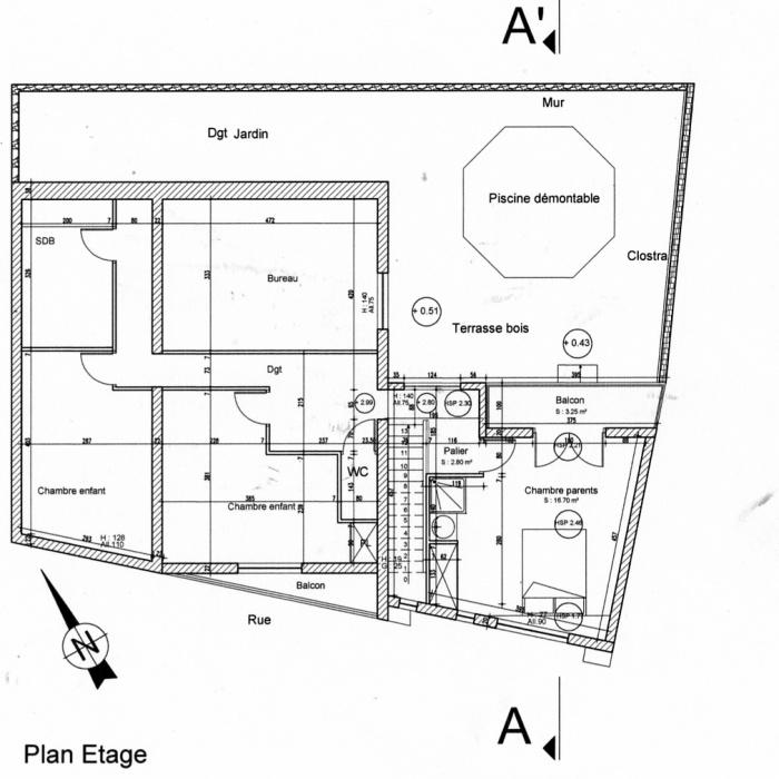Surélévation d'une maison : Plan surélévation