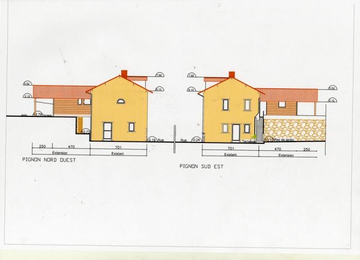Rénovation, extension d'une maison et construction d'un garage ( projet en cours ) : Pigons projet