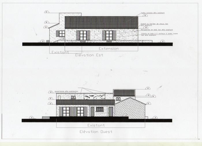 Maison d'hôtes - extension ( projet en cours ) : Façades projet