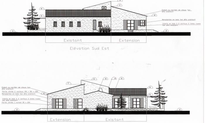 Maison d'hôtes - extension ( projet en cours ) : Pignons projet
