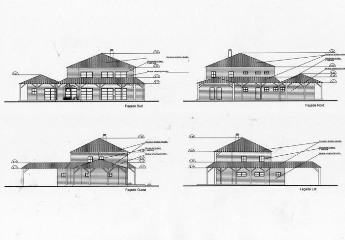 Construction d'une maison ( projet en cours ) : Façades