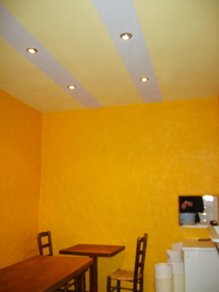 Traitement devanture et décoration intérieure : Traitement décoratif salle 2