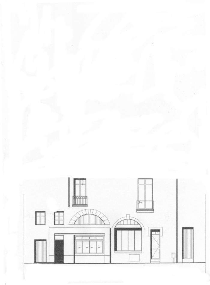 Traitement devanture et décoration intérieure : Façade existante