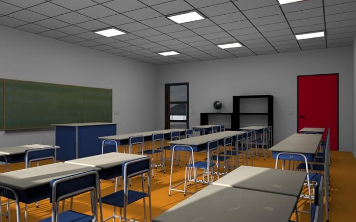 Ecole maternelle et primaire - Construction bois : Salle de classe