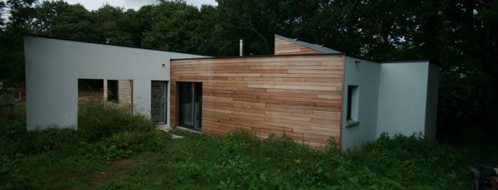 Construction bois - Morbihan : Facade Nord