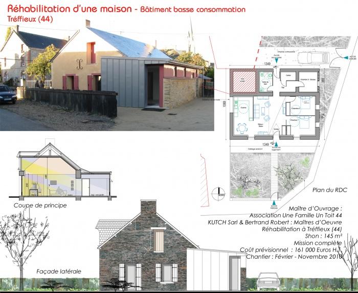 Réhabilitation d'une maison - BBC (44) : tréffieux'