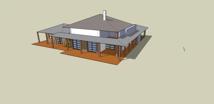 Construction d'une maison ( projet en cours ) : Maquette 3D