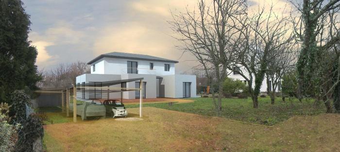 maison à faible pente en zinc et avec excroissances. : image_projet_mini_49894