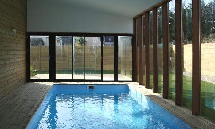 Gites en Bretagne : Vue piscine