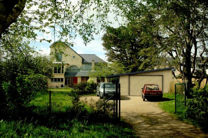 Maison V : vue-façade--projet