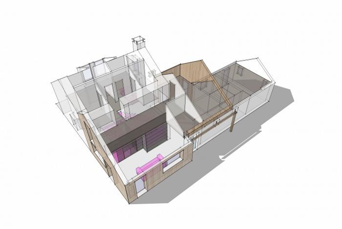 Extension transformation d'une maison (44)