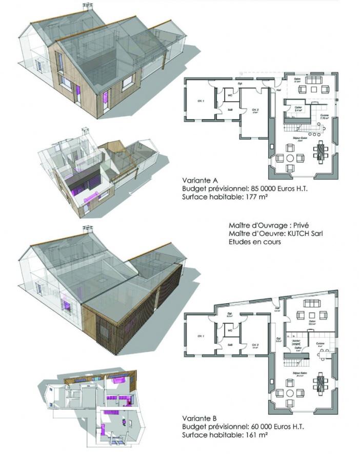 Extension transformation d'une maison (44) : projet camelot\'